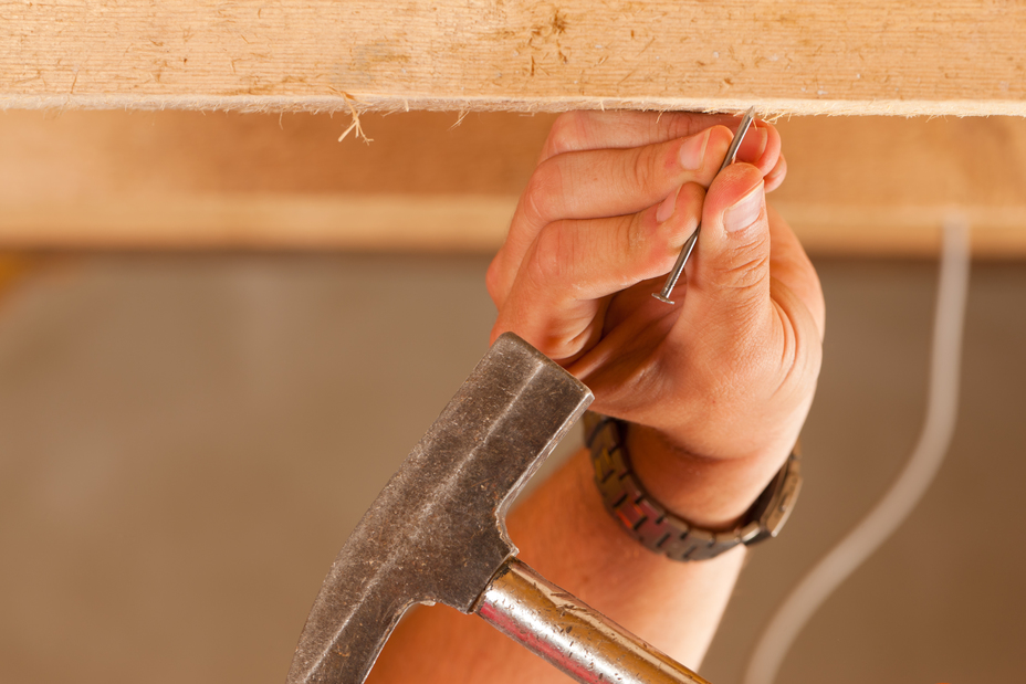Hammering in a nail