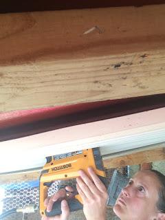 Jen hard at work constructing at Project: Thrive